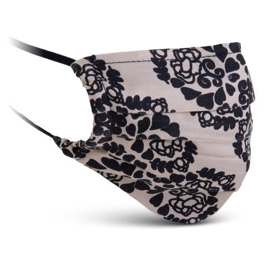 Fabric Mask - Black/Tan Floral