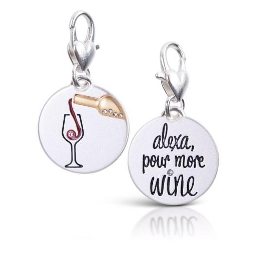 Silver 2-Tone Medallion - Alexa Wine