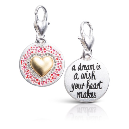 Silver 2-Tone Medallion - Heart Wishes