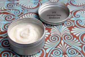homemade coconut lime deodorant
