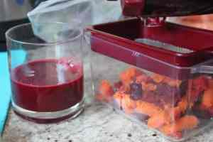 carrot, beetroot and ginger juice