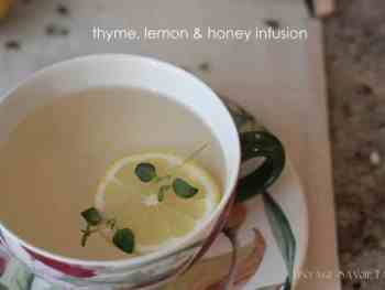 Thyme, lemon and honey herbal tea
