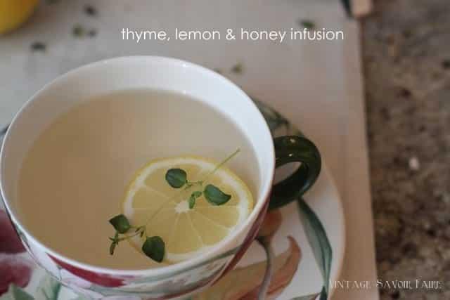 amandacook.me Thyme, lemon and honey herbal tea