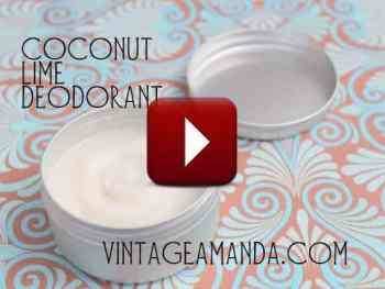 amandacook.me Coconut Lime Deodorant [video tutorial]