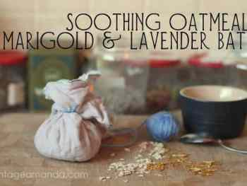 Soothing oatmeal bath for irritated skin