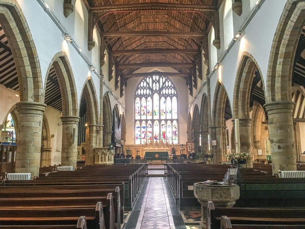 Inside of St Marys Church Horsham