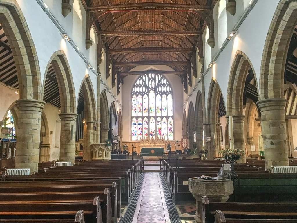 Inside of St Marys Church Horsham