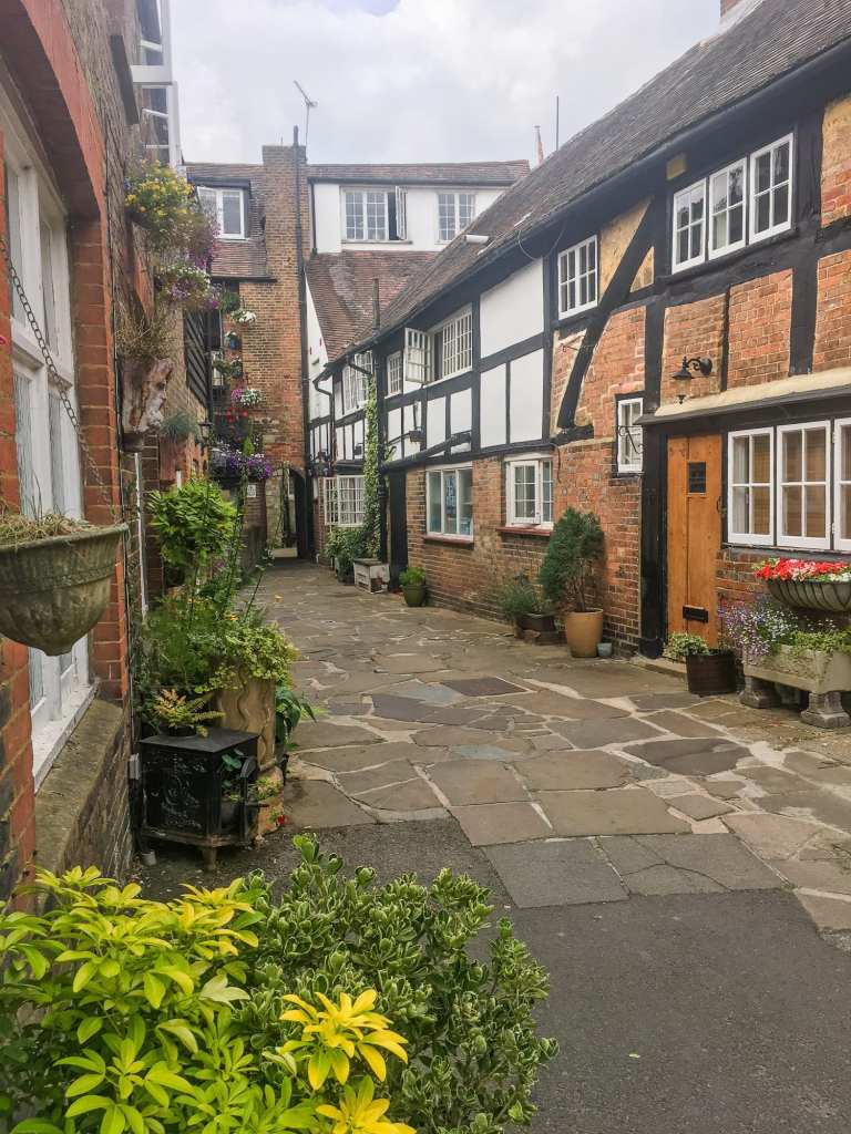 A small street in Horsham, West Sussex