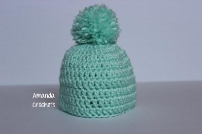 Mint Pom Hat