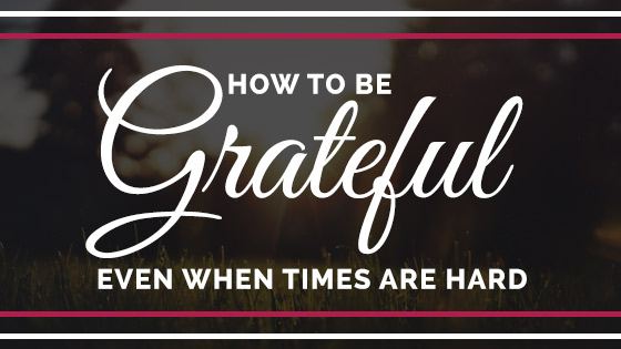 How to act grateful