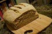 November 9, 2012. Sourdough Pumpernickel Rye Bread.