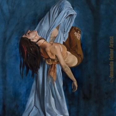 amanda_feher_painting_figurative_oils_The_Moonlit_Glade