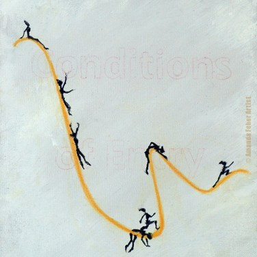 Amanda_Feher_Painting_Acrylics_Pastels_and_Ink_on_Canvas_Walk_The_Line