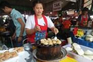 making seafood pancake