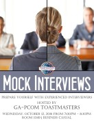 2016 Toastmasters Mock Interviews A