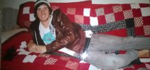 Luke and quilt