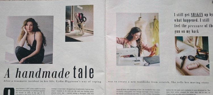 Lydia Higginson feature in the Sunday Times 'Style' magazine.JPG