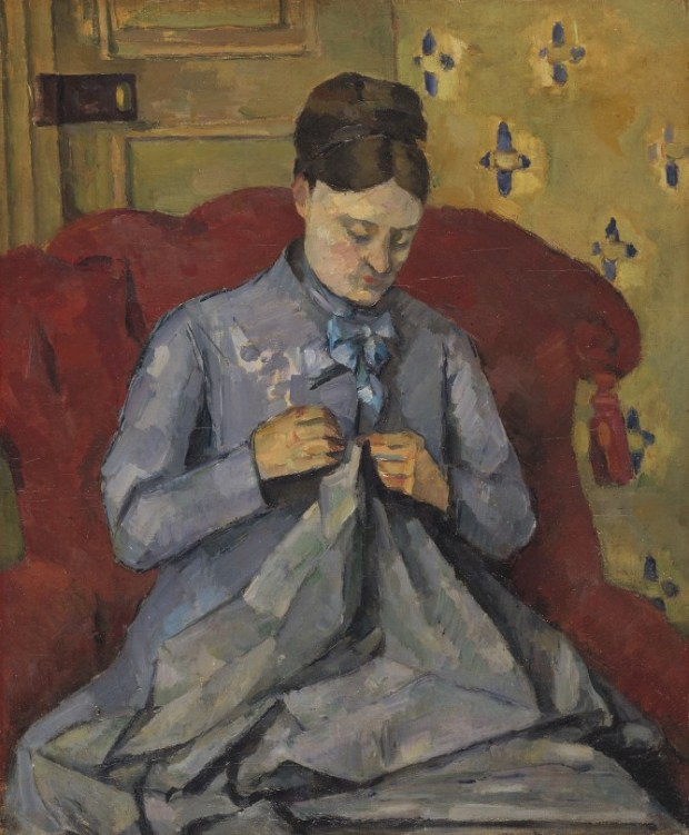 Madame Cezanne Sewing 1877
