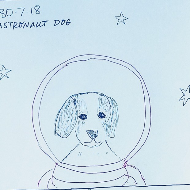 Astronaut dog