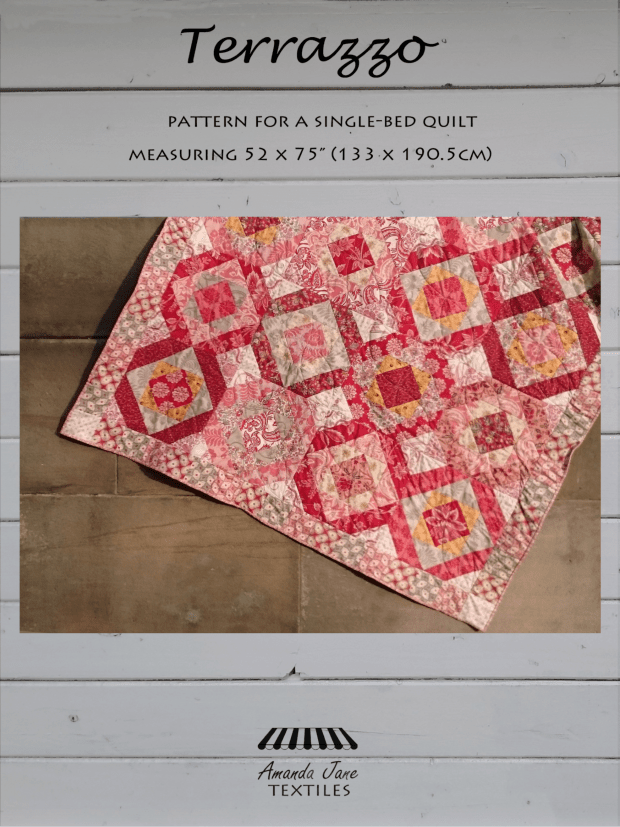 Terrazzo single bed quilt pattern, cover, by Amanda Jane Textiles.png