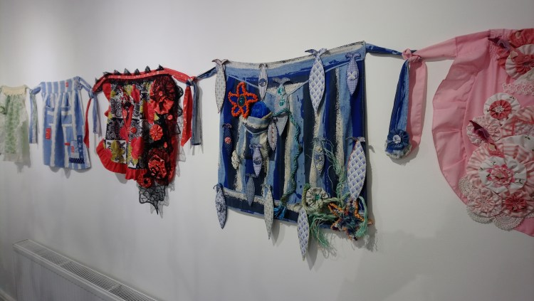 Art-work by Kath Price in the 'Threads' exhibition at the Frederick Street Gallery, Sunderland,
