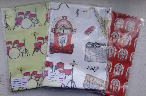Fat quarters of fabric by Amanda Jane Textiles