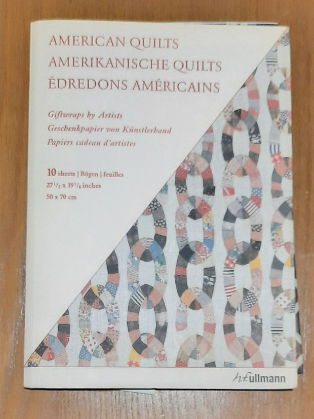 'American quilts' giftwrap, published by H.F. Ullmann