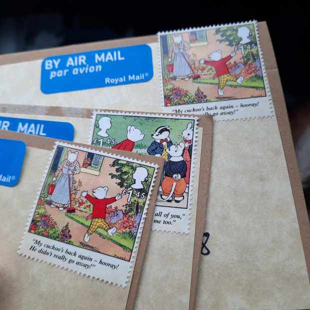 Stamps for the DIY postcard swop