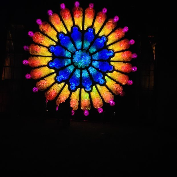 'Rose Window' sculpture by Mick Stephenson at 'Illuminating Ushaw' 2020