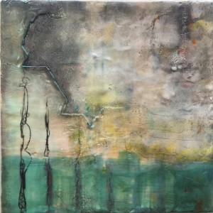 12x12 encaustic painting on 1.5″ cradled birch panel $350