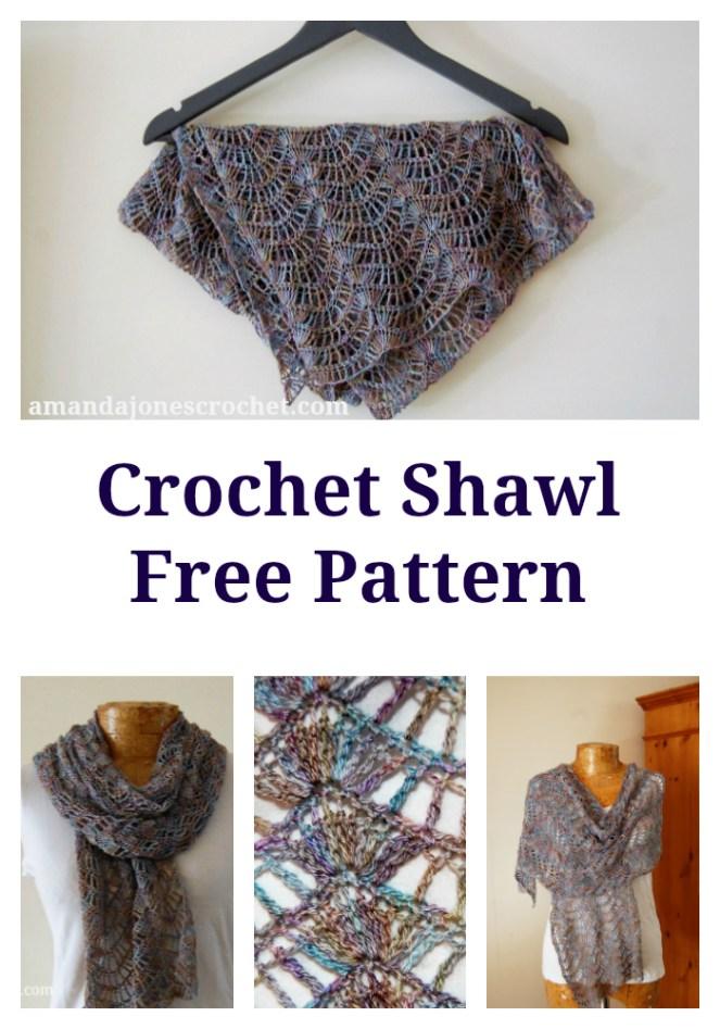 Crochet Shawl Pin