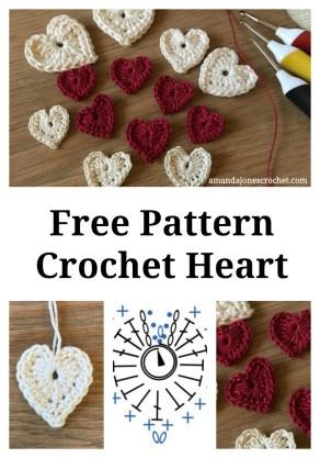 Heart pattern 2018 pin
