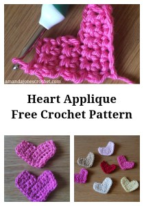 heart applique pin