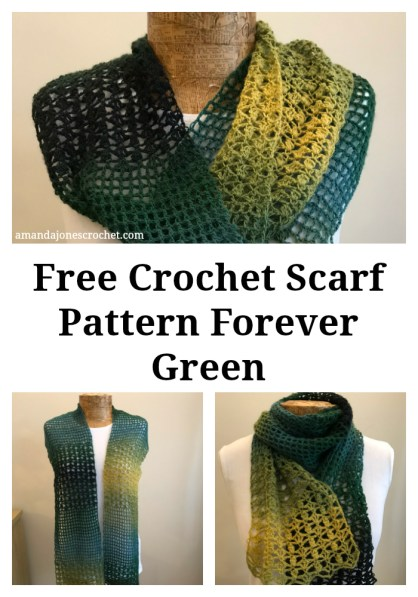 Free Crochet Scarf Pattern Forever Green