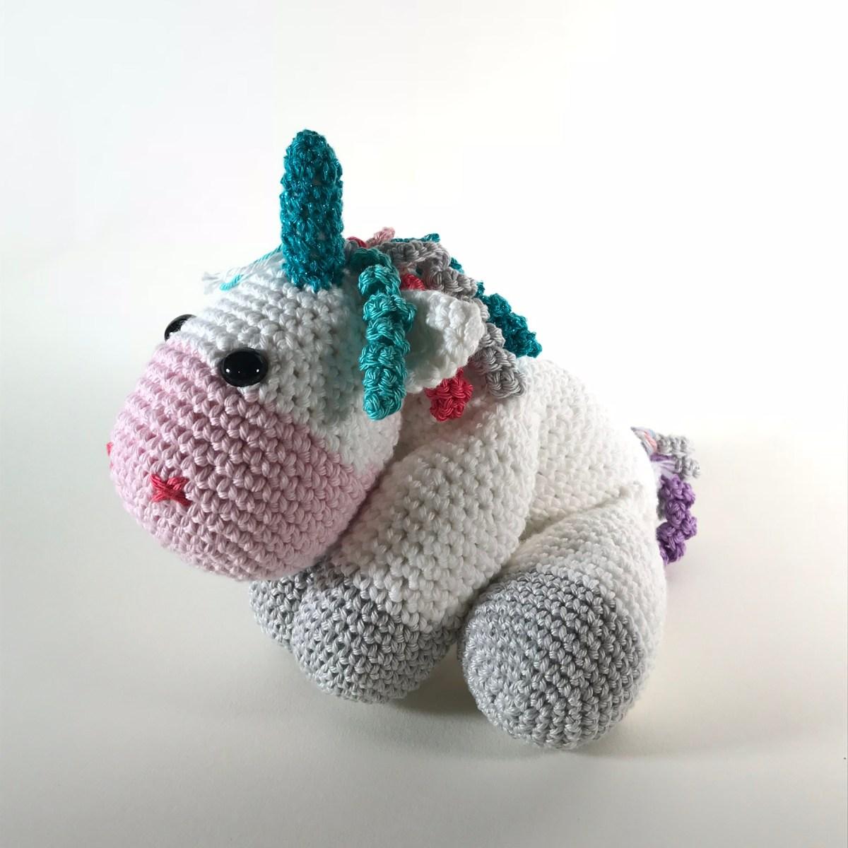 Dada Neon Crochet: Tiny Rainbow Unicorn Amigurumi by Ahooka - As a ... | 1200x1200