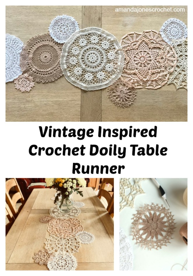 Vintage Inspired Crochet Doily Table Runner