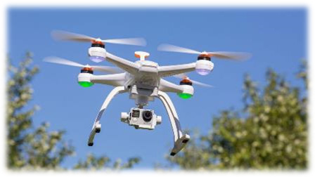 drone used to monitor sugar cane harvesting