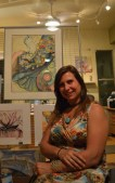 Annabel Sclippa came from the Verde Valley to show her art in RooPho Gallery.