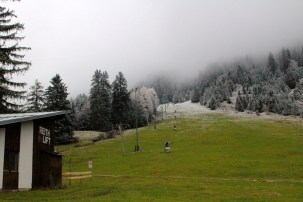 Ski lift - think a little more snow is needed yet!