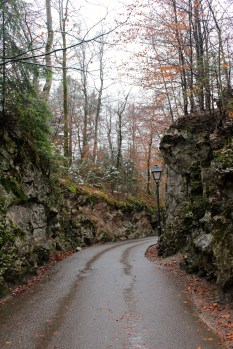 Walk back down from Hohenschwangau Castle