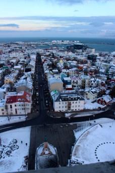 View over central Reykjavik from Hallgrimskirkja