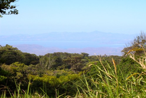 View over Pacific Ocean from Curi Cancha Reserve, Monteverde