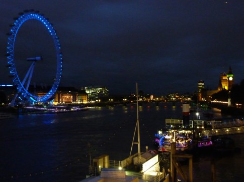 Tattersall Castle bar boat, Hispaniola bar boat & London Eye