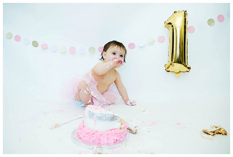 Orange County NY Aubreys First Birthday Cake Smash
