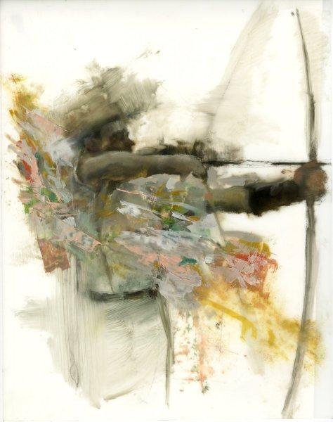 Study for Muybridges Daughters 1 oil on mylar 11X14