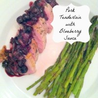 pork tenderloin with blueberry sauce: the recipe
