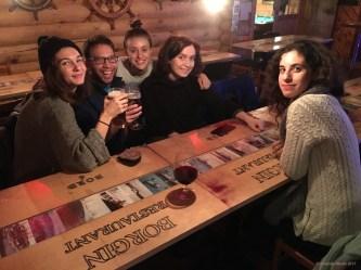 Fellow artists at Borgin Restaurant