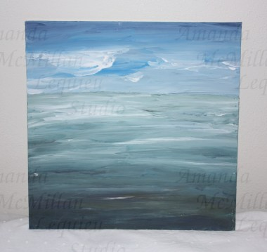 """Studies on the deep 4: acrylic on canvas board, 12X12""""; $30; SOLD"""