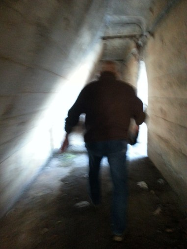 Inside the ore wall with a former steelworker, Chicago, IL