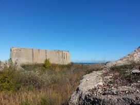 Walls, lake, and land, Chicago, IL